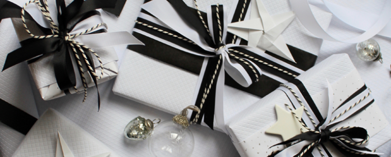 Christmas gifts - black and white