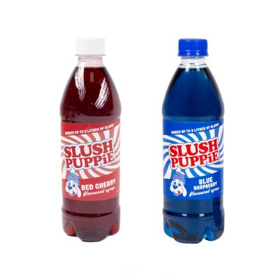 Slush Puppie Blue Raspberry & Red Cherry Syrup 2 Pack