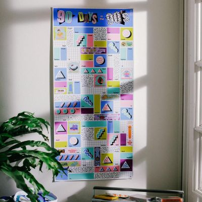 Doiy 90 Days in the 90's Scratch Off Poster
