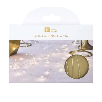 Talking Tables Gold Wire LED Lights