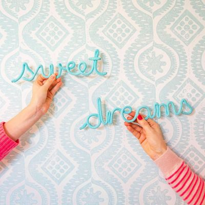 Sweet Dreams Rope Word Aqua