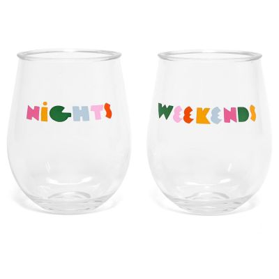 Party On Wine Glasses - Drink Up The Sunshine