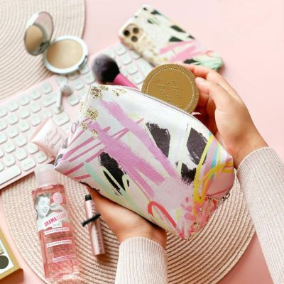 Coconut Lane Abstract Vibes Make Up Bag