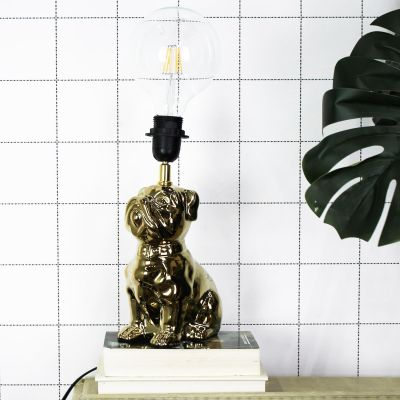 House of Vitamin Lamp Dogstyle Gold