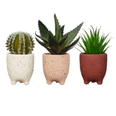3 x Assorted Speckled Leggy Planters