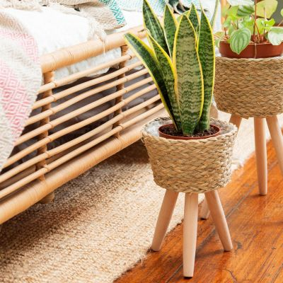 Basket Planter On Legs Small