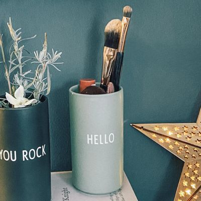 Favourite Vase - Green Hello