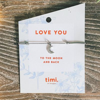 Timi Of Sweden Love you to the Moon Bracelet Gift Card