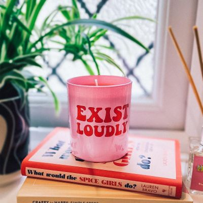 Exist Loudly Candle