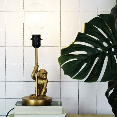 House of Vitamin Gold Monkey Lamp