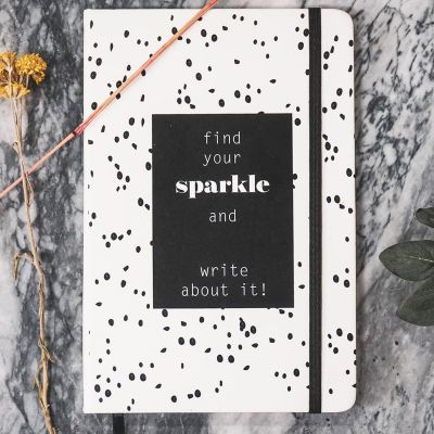 House of Vitamin Notebook A5 'Find your Sparkle and write about it'
