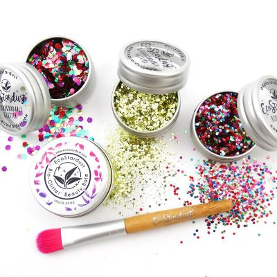 EcoStardust Pride Party Trio Glitter, Balm and Brush Set