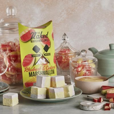 Naked Marshmallow Co Rhubarb & Custard Gourmet Marshmallows