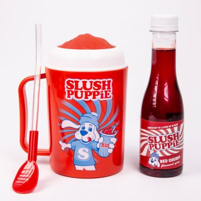 Slush Puppie Making Cup & Red Cherry Set