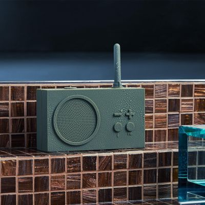 Lexon Tykho 3 Radio & Bluetooth Speaker in 1 – Grey