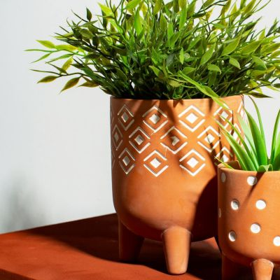Small Geometric Leggy Planter