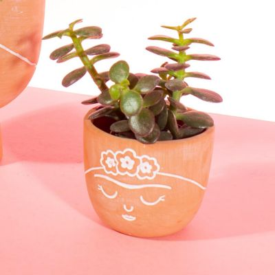 Frida Terracotta Mini Planter