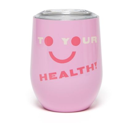 Stainless Steel Cup with Lid - To Your Health
