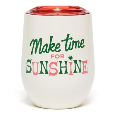 ban.do Stainless Steel Cup with Lid - Make Time for Sunshine