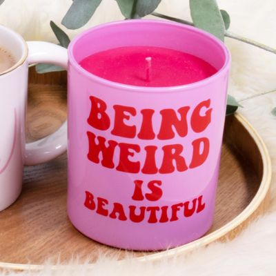 Being Weird is Beautiful candle